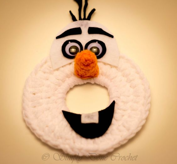 Olaf Inspired Handmade Crocheted Camera Bling lens Buddy Frozen Disney Photography Photo Prop