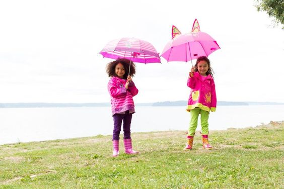 "Western Chief Kids ""Blossom Cutie"" and ""Butterfly Star rain gear sets"