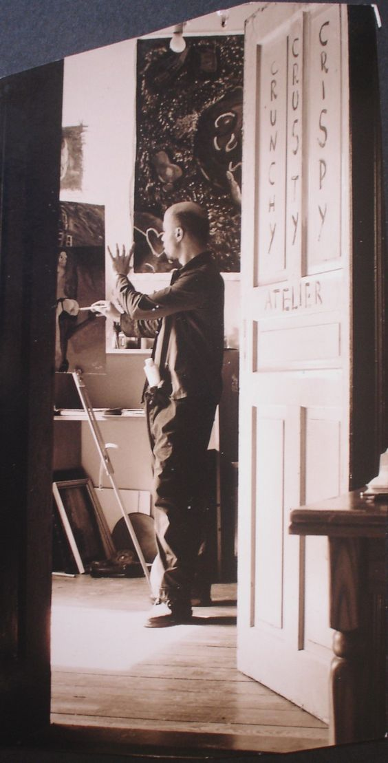 Myself painting in 1999 in my atelier