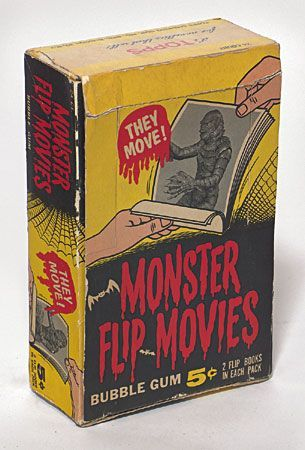 spicyhorror:Topps Monster Flip Movies display box 1963