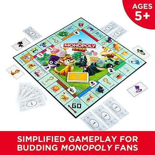 Board Games For Kids Monopoly Junior Board Game Ages 5 And Up Amazon Exclusive Boardgames For Board Games For Kids Fun Board Games Top Family Board Games