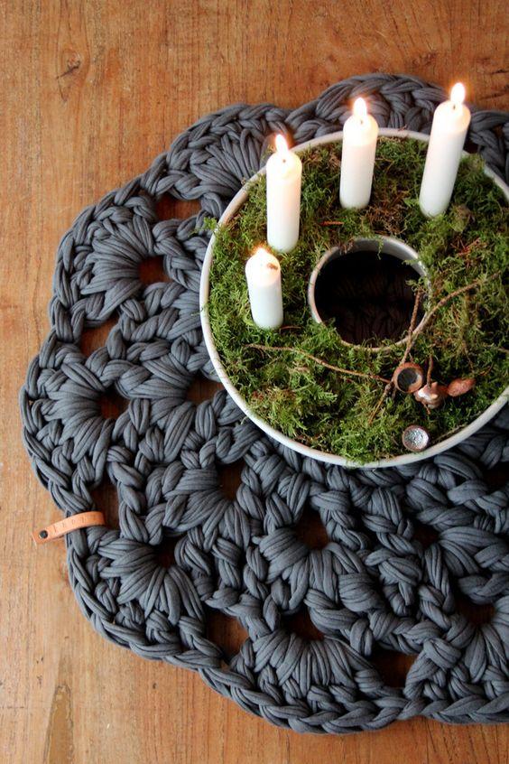 Merken: Idee mit der Gugelhupfform als Adventskranz