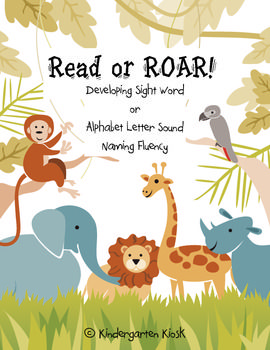 FREE Meet the common core standards by Reading and Roaring! Choose either sight word practice or alphabet letter sound naming fluency....