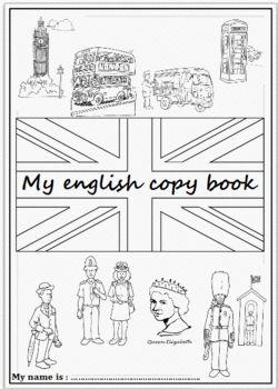 Pages de garde du cahier d'Anglais