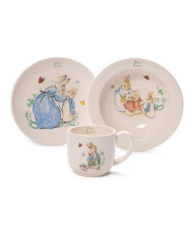 Look what I found on #zulily! GUND Classic Peter Rabbit Decorative Plate Set by Peter Rabbit #zulilyfinds
