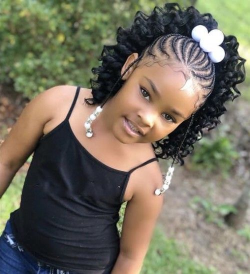 Braids With Extensions And Beads Lil Girl Hairstyles Girls Hairstyles Braids Cute Braided Hairstyles