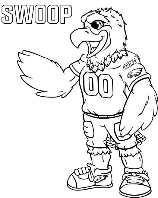 Swoop Philadelphia Eagles Coloring Pages Football Coloring Pages Philadelphia Eagles Colors Philadelphia Eagles