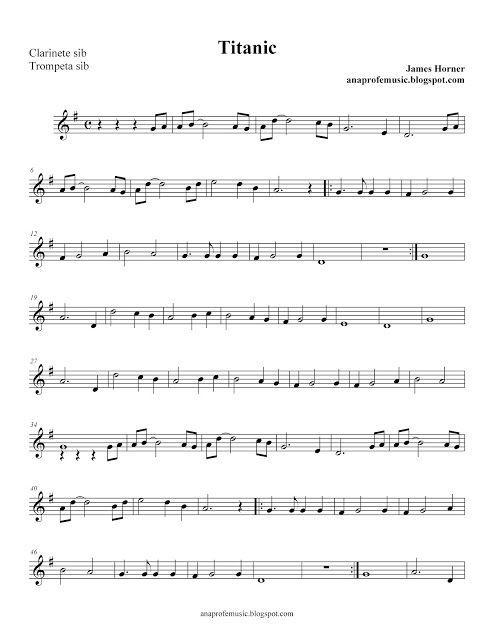 Anaprofemusic Partitura Bso Titanic Anaprofemusic Partitura Bso Titanic Anaprofemusic Partitura Bso Ti Cello Music Clarinet Sheet Music Trumpet Sheet Music