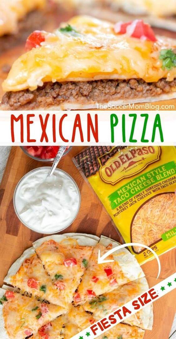 Easy Mexican Pizza Recipe