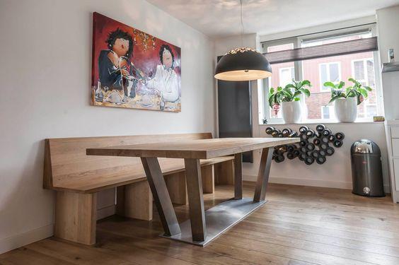 ZWAARTAFELEN I Eettafel met rvs onderstel van Zwaartafelen I www.zwaartafelen.nl I #interieur #interior #home #design #eettafel