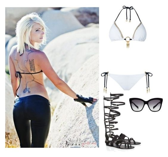 """""""Going to the beach with a cutie ~Diamond"""" by bitchyanons ❤ liked on Polyvore featuring Ancient Greek Sandals and Dolce&Gabbana"""