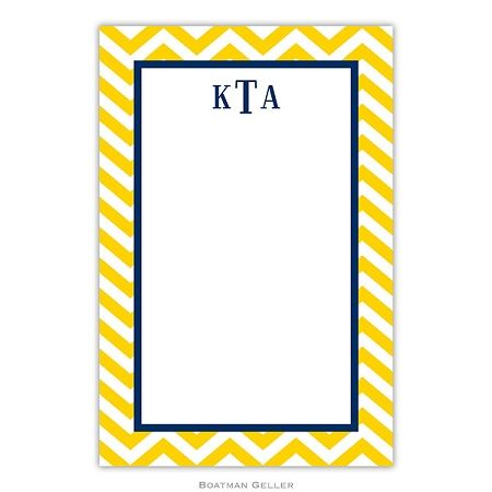 Chevron Sunflower Personalized Notepads And Note Sheets 29 Personalized Notepad Lettering Note Pad