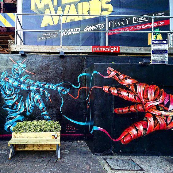 """@ottoschade//Brixton, London  #ottoschade #brixton #southlondon #graffiti #streetart #graffitilondon"""