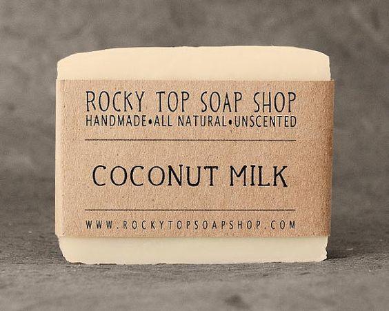 Coconut Milk Soap -  All Natural Soap, Handmade Soap, Cold Process Soap, Vegan Soap