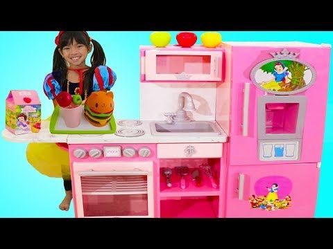 Emma Pretend Play W Disney Princess Snow White Pink Kitchen Toy