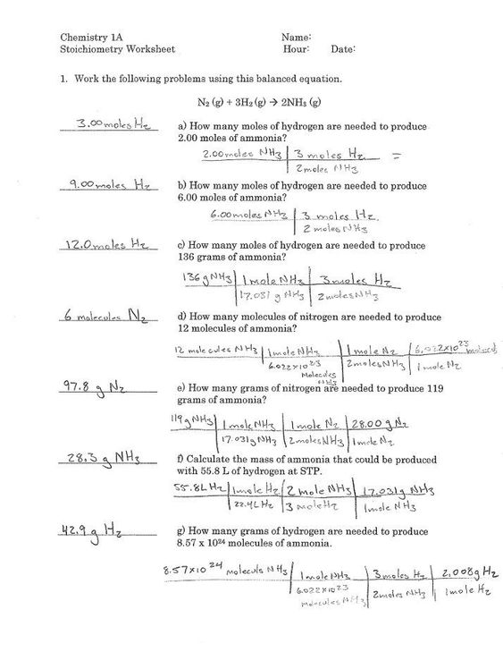 Stoichiometry Worksheet Answer Key Chem 1 Worksheet 38 Stoichiometry Mole Ratios Answers In 2020 Scientific Notation Word Problems Word Problem Worksheets Worksheets