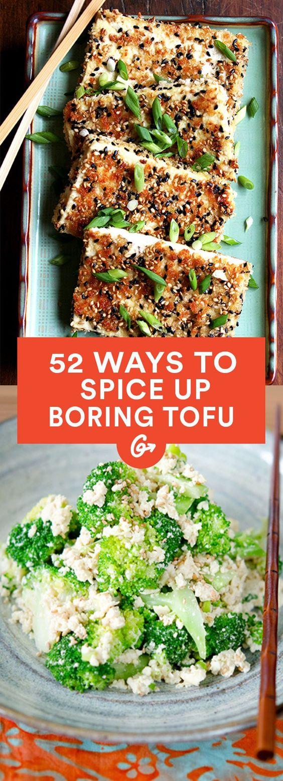 52 Brilliant Ways to Spice up Boring Tofu #healthy #tofu #recipes http://greatist.com/health/healthy-tofu-recipes