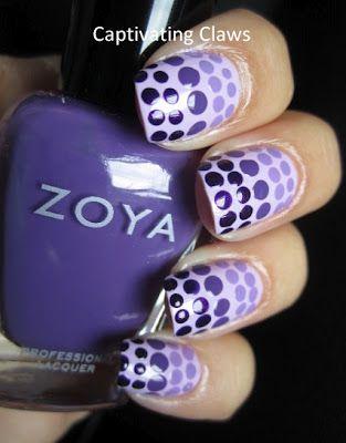 Purple Ombre Dots..
