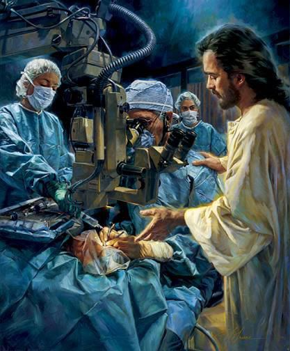 Jesus is there ... n he will heal you n you will have a fast recovery. .