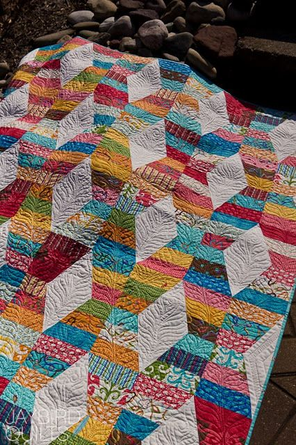 Hug and Kisses by Jaybird Quilts - for a jelly roll.  Love this pattern