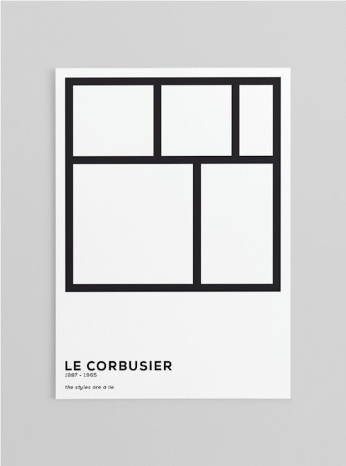 Le corbusier posters pinterest graphics style and design - Le corbusier design style ...