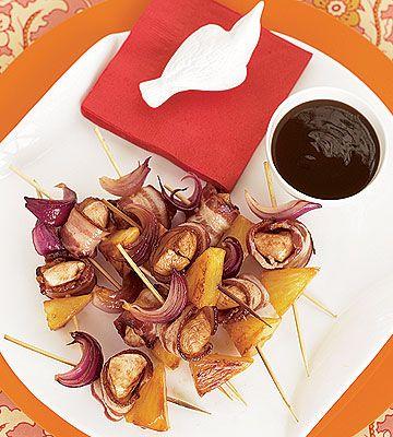 Maple-BBQ-Bacon Skewers - FamilyCircle.com