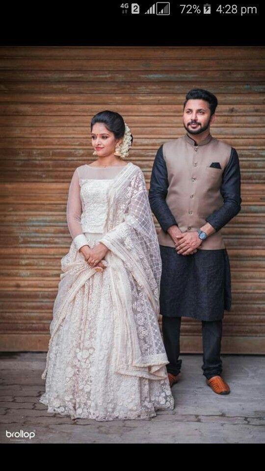 Pin By Treesa On Christian Weddings Engagement Dress For Groom Kerala Engagement Dress Bride Reception Dresses
