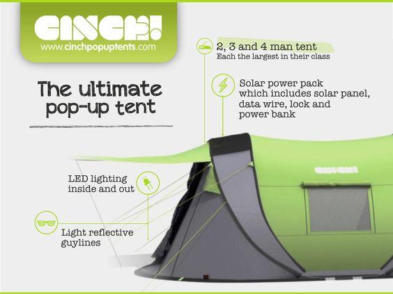 Meet Cinch! 2, 3 and 4 man popup Tents