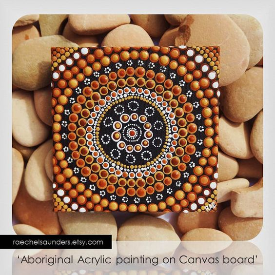 Australian Aboriginal Art Dot Art Acrylic Paint On