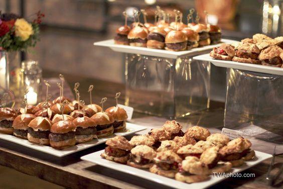 Mini sandwich food station.   | Timothy Whaley & Associates Photographic Artists | Chicago Wedding Photography | www.twaphoto.: