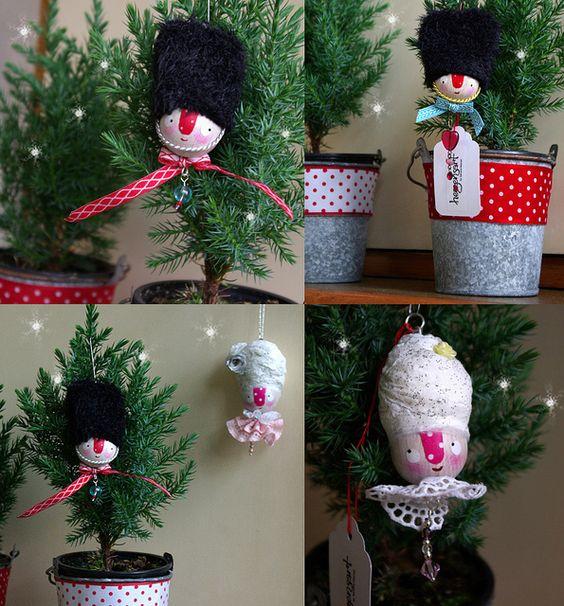 handmade ornaments - Marie Antoinette & little Grenadier by herzensart, via Flickr