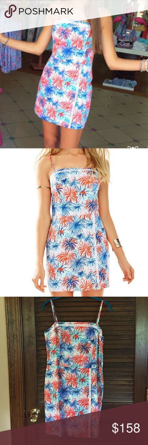 Lilly Pulitzer Jessie romper in Feelin Sparks Brand new with tags attached Lilly Pulitzer Jessie romper in Feelin' Sparks! July 4th dress alert! Perfect to wear for this years Independence Day :) size 8. So comfy and one of my personal favorite 4th of July prints. Offers will be considered! Lilly Pulitzer Dresses Mini