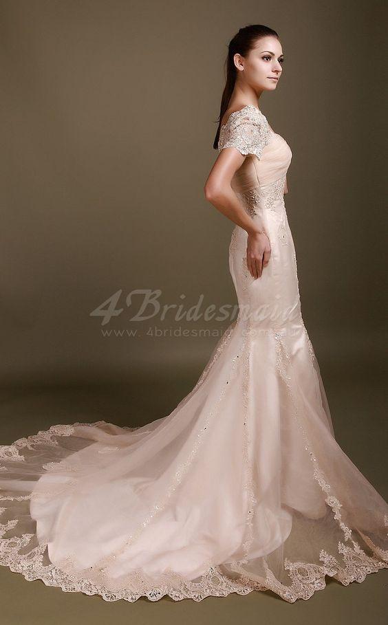 mermaid with court train dramatic wedding dresses au