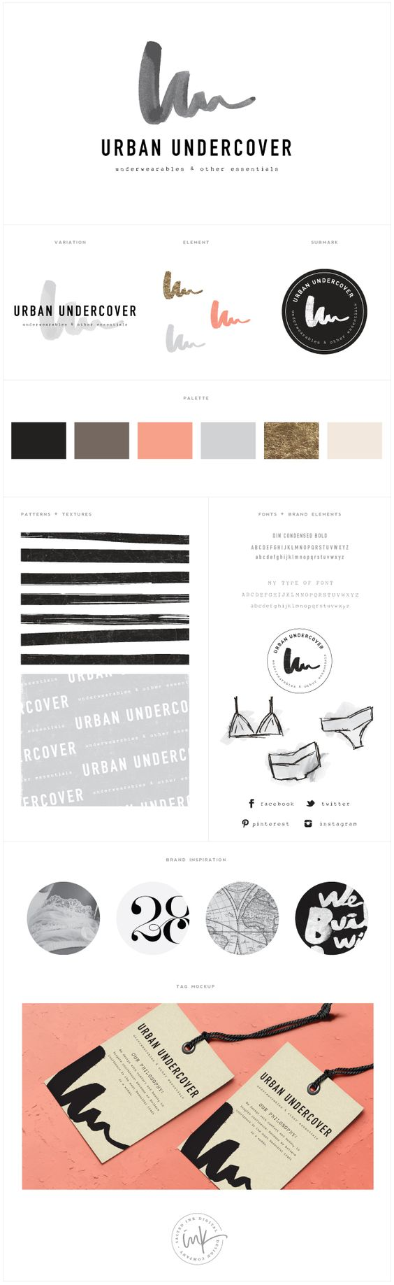 Brand Launch: Urban Undercover    Salted Ink Design Co.