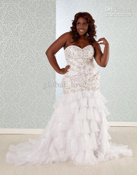 Trumpet Bottom Wedding Dresses : Wedding dress mermaid trumpet corset back tulle tiered bottom