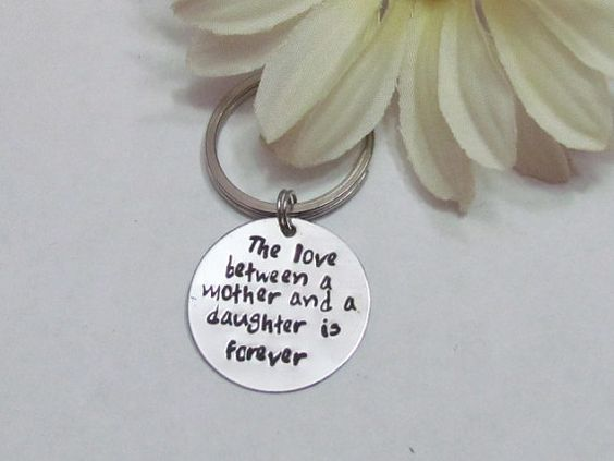 MOTHER DAUGHTER KeychainWedding gift for MomMother of Bride ...