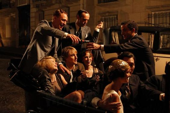 As F. Scott Fitzgerald in Woody Allen's 'Midnight in Paris' with co-star Owen Wilson - thanks to a fan on Twitter for sharing