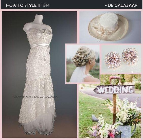 Ook voor prachtige trouwjurken kun je bij ons terecht! Welke stijl heeft jouw voorkeur? Kijk op www.degalazaak.nl onder het kopje Trouwjurken voor meer inspiratie