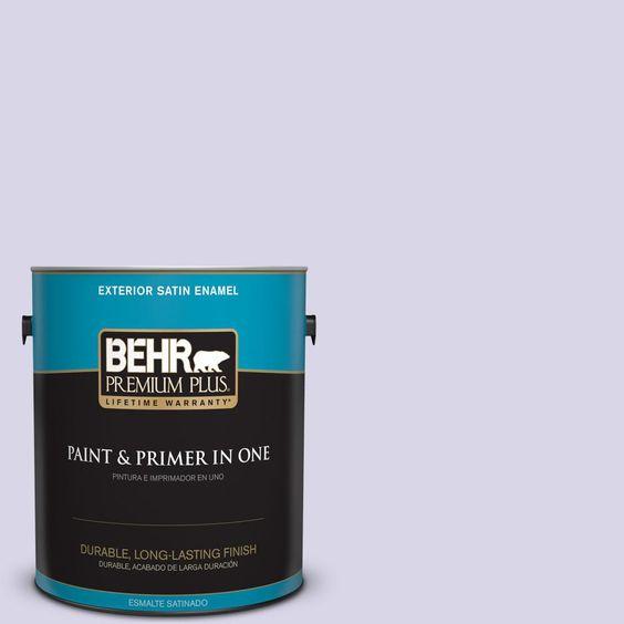 BEHR Premium Plus 1-gal. #630A-2 February Frost Satin Enamel Exterior Paint