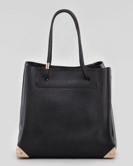 Prisma Leather Tote Bag Blackrose Gold - Lyst