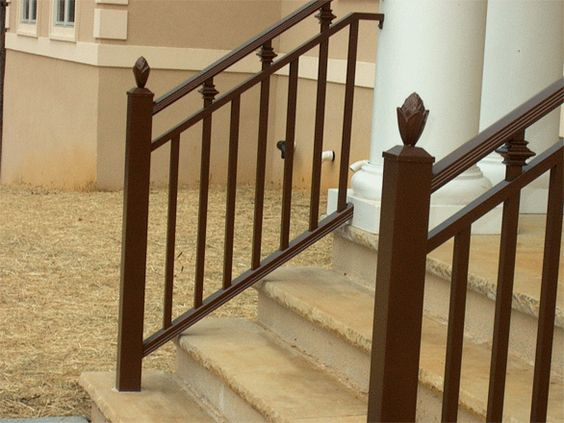 Craftsman Style Hand Rail Ciccone Brothers Custom Interior And Exterior Railings Exterior