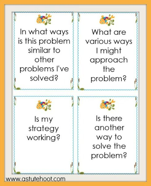 Math Problem Solving Self-Reflection and Peer Discussion Questions ...