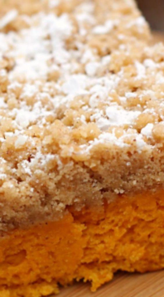 Pumpkin Crumb Coffee Cake ~ So delicious and moist