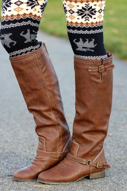 $101.65 (Buy here: http://appdeal.ru/ei9n ) Newest Street Fashion Brown Knee High Boots Woman Flat Boots Concise Buckles Design Back Ziper Autumn Winter  Long Boots for just $101.65