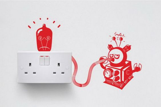 7 Playful Stickers for Cool Light Switches