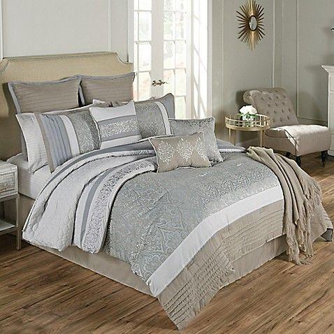 Umbria 14 Piece King Comforter Set In Blue Comforter Sets