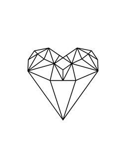 Diamond Heart Tatuagens Pinterest Diamantes E Cora 231 227 O