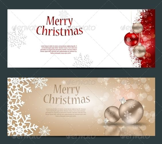 Set of Cards with Christmas Balls, Stars and Snowflakes abstract
