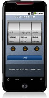 New way to find library materials- Shake It! from the Orange County Library System: Hand, Movies Novels, Ipod Touch, Audiobooks Movies, Downloadables Mobileapps, App Serendipity, Mobileapps Asp