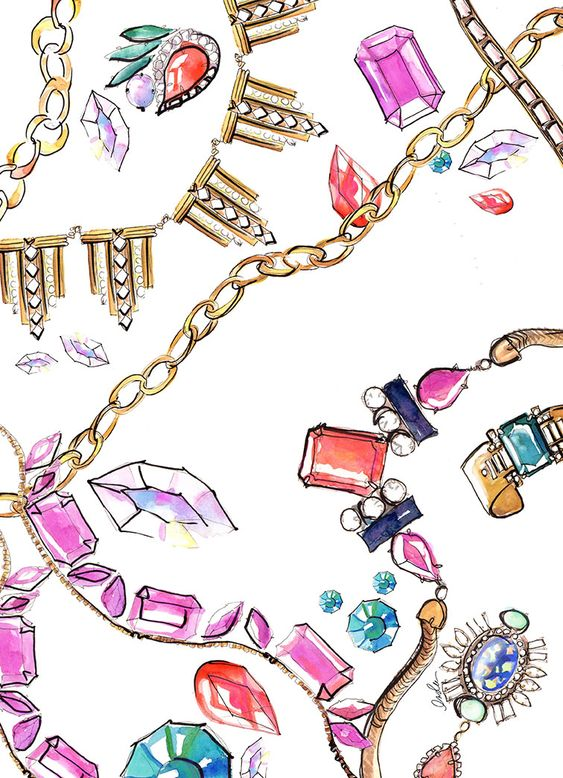 Sketch books sketches and fashion illustrations on pinterest for Learn to draw jewelry